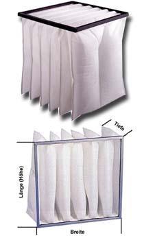Taschenfilter für Grobstaub - Filterklasse G4(EU4)