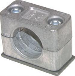 Rohrschelle Mit Anschweissplatte Aluminium Leichte Baureihe Din