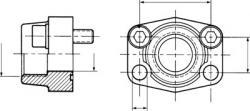 Flansch mit Innengewinde - Lochbild 3000 PSI
